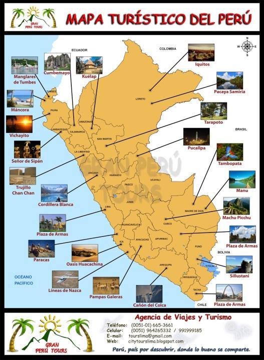 Resultado de imagen de mapa peru turistico